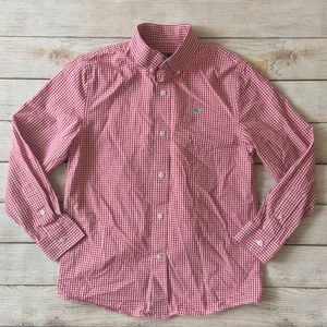 Vineyard Vines Red & White gingham button up shirt